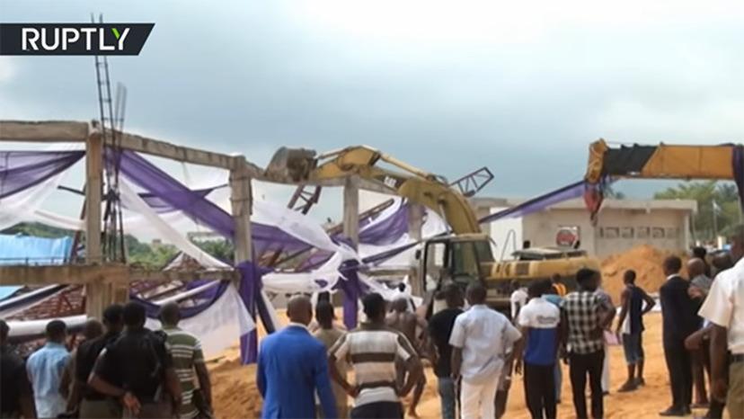 Manga doda nar kyrka kollapsade i nigeria