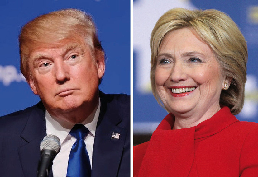 Trump knappar in pa clinton