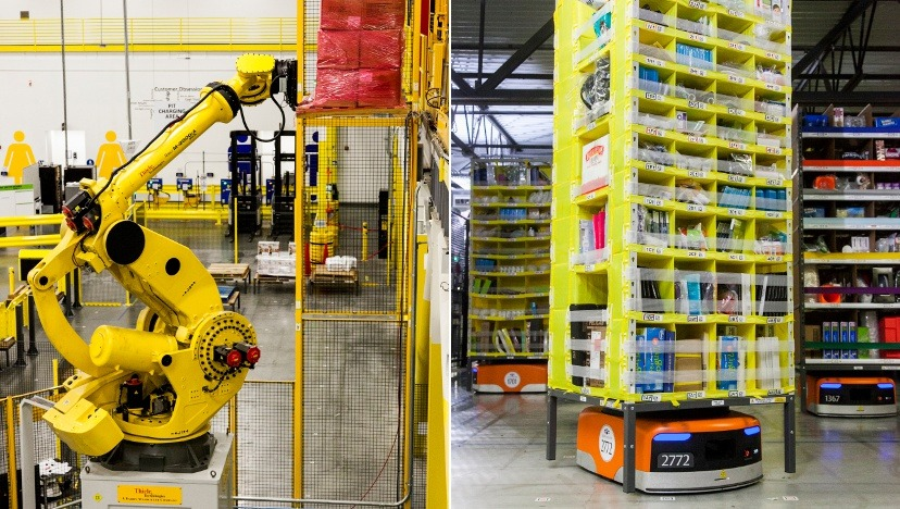 Amazon lager robotar